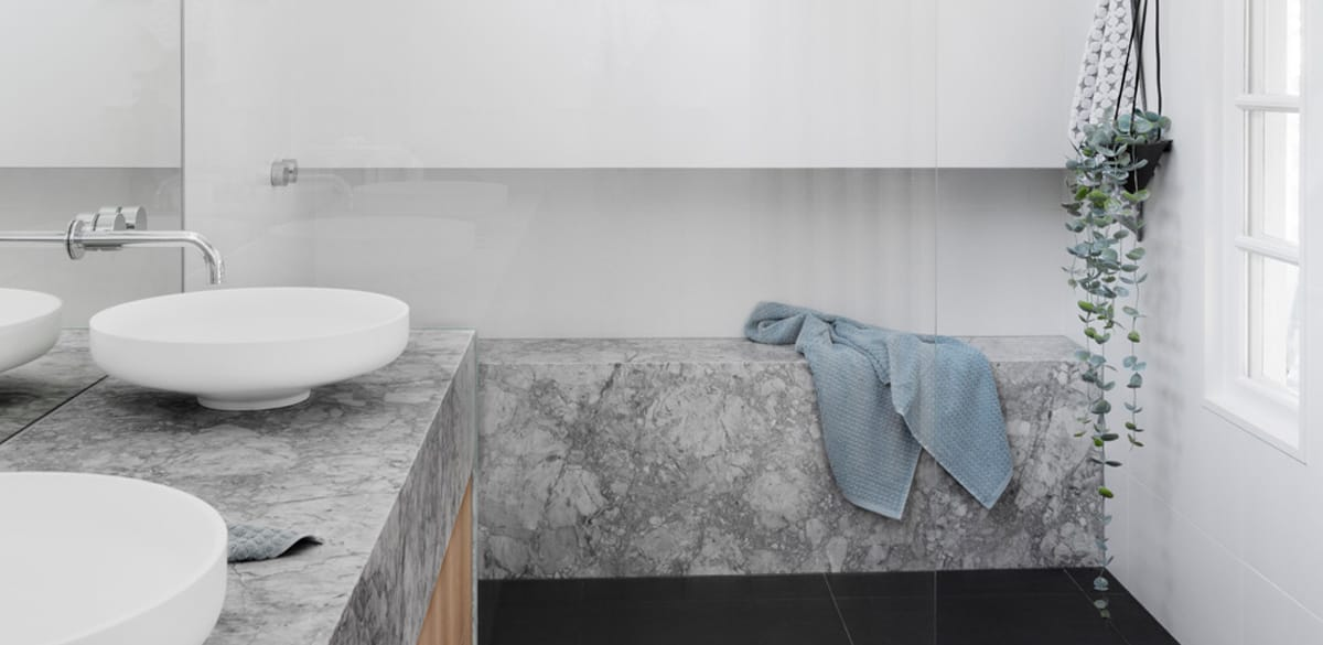 mteliza main project gallery basin marble benchtop
