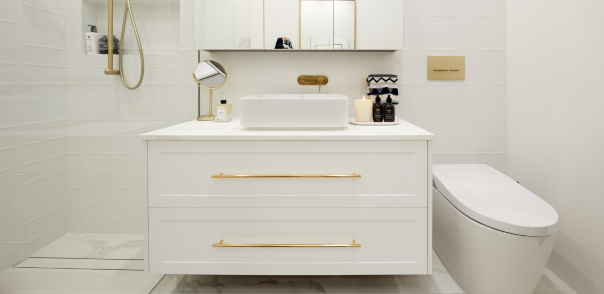 mitch mark bathroom reveal vanity the block