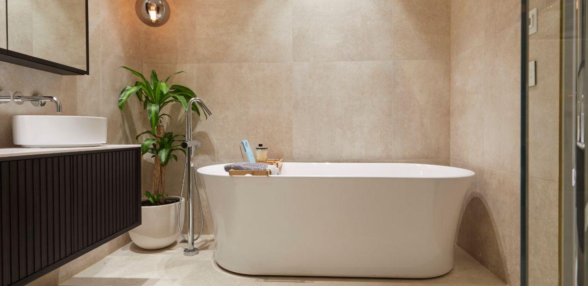 freestanding bath the block bathroom reveal