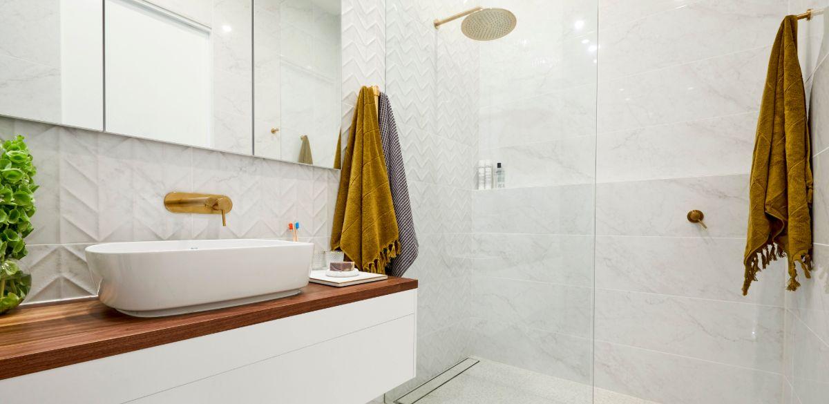 the block bathroom gold shower taps