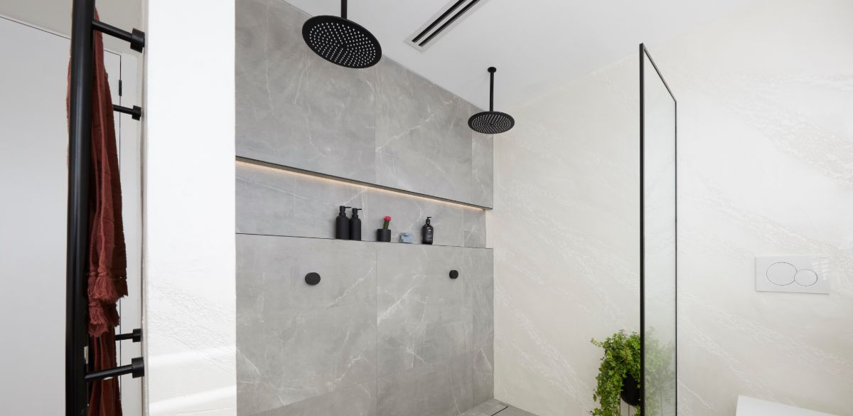 elise matt master ensuite matte black shower