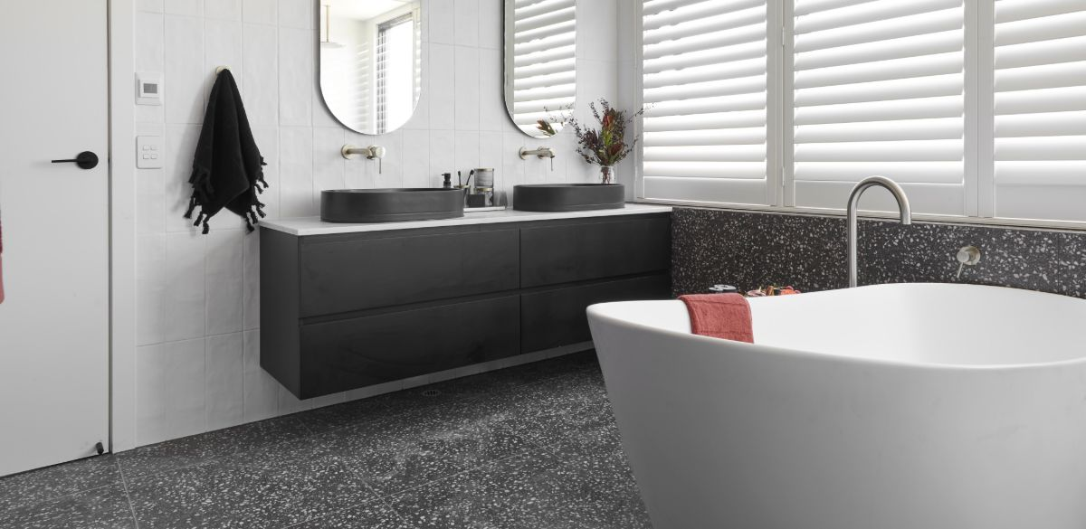 tess luke master ensuite vanity the block bathroom
