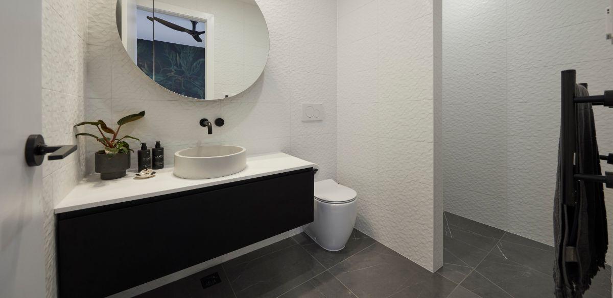 elise and matt the block bathroom vanity