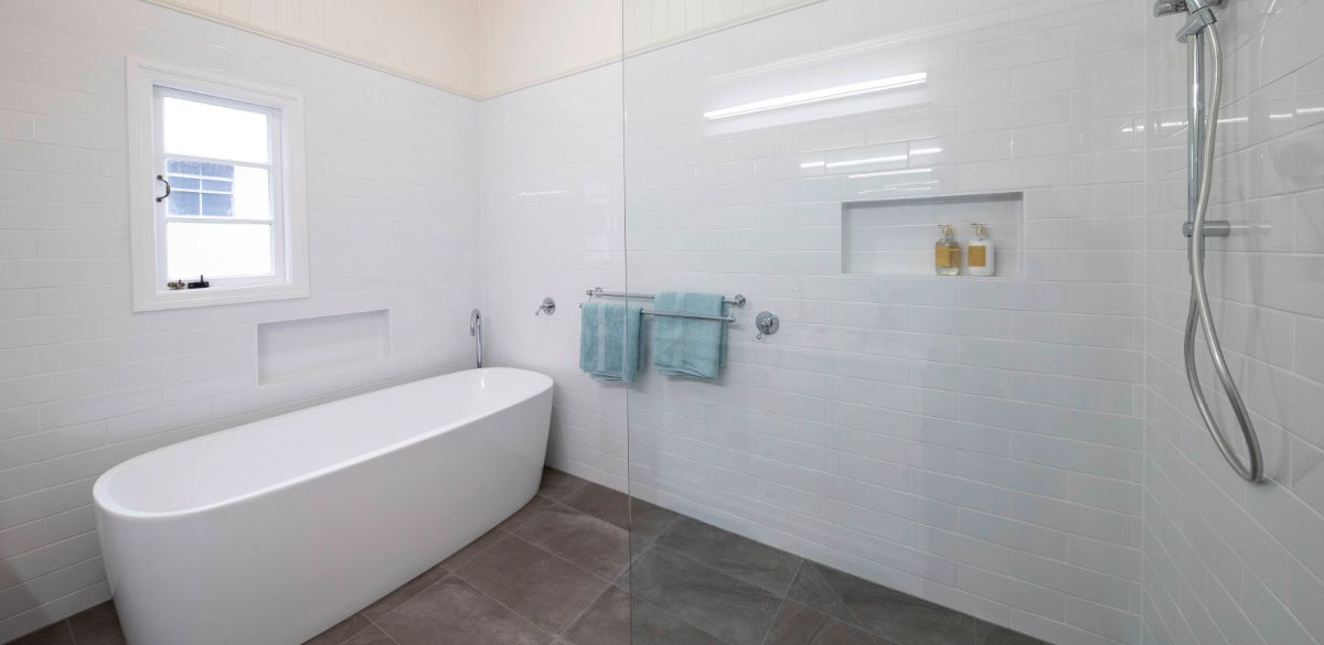 freestanding bath renovation