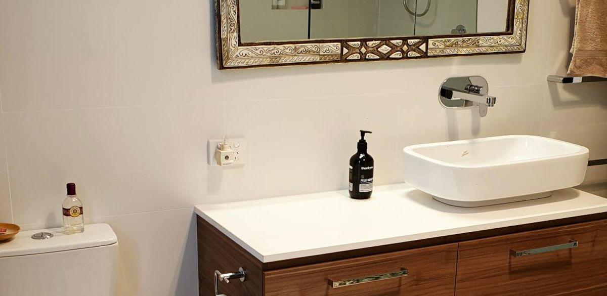 counter basin bathroom renovation