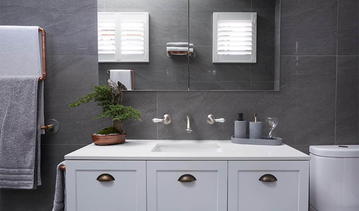 Reece theblock main bathroom vanity unit