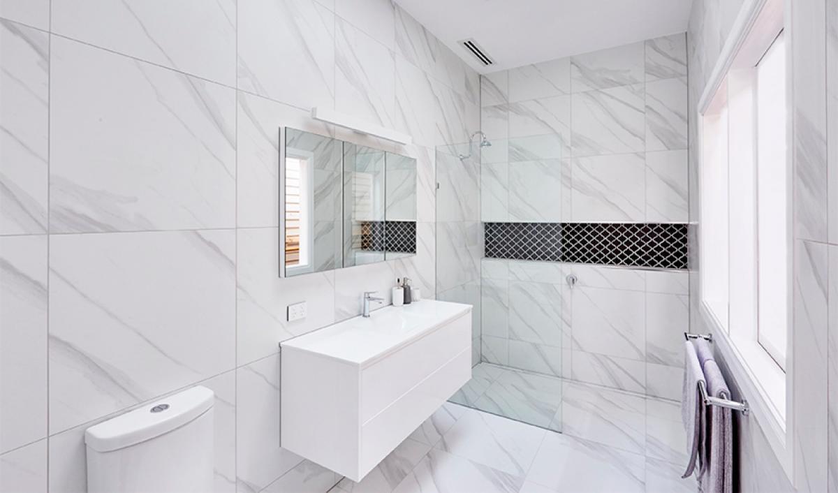 Reece bathroom theblock wall hung vanity