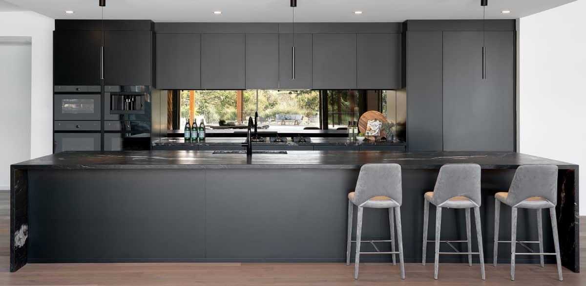 black white kitchen renovation