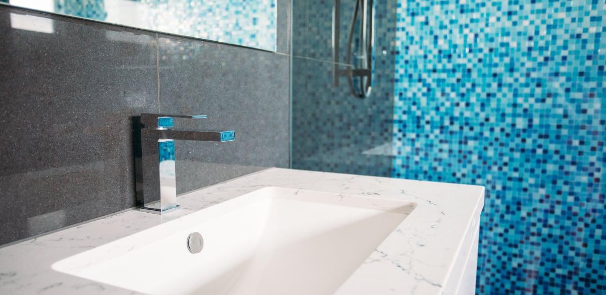 chrome bathroom tap