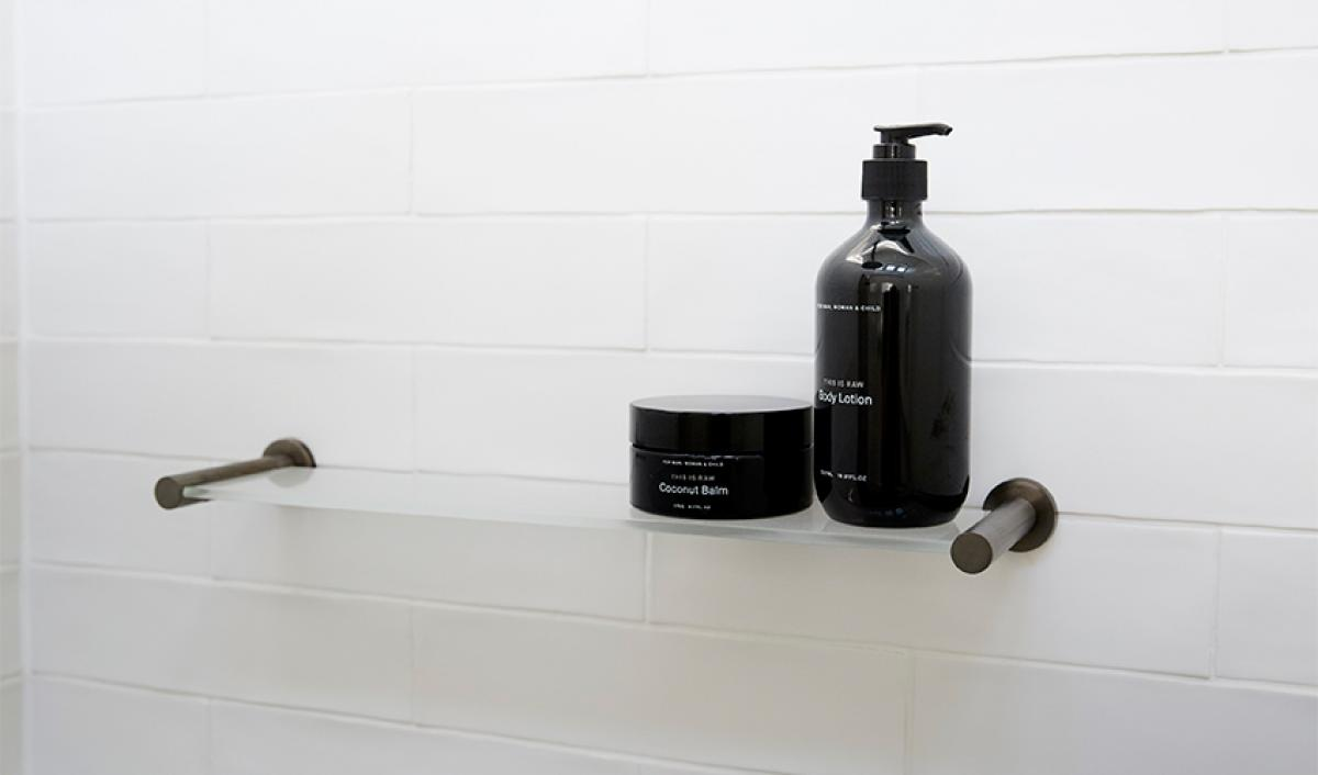 Reece theblock bathroom shower shelf