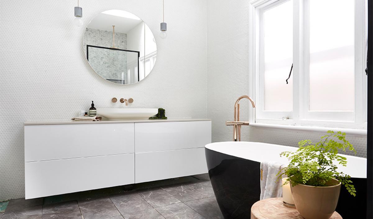 Reece theblock bathrooms freestanding vanity