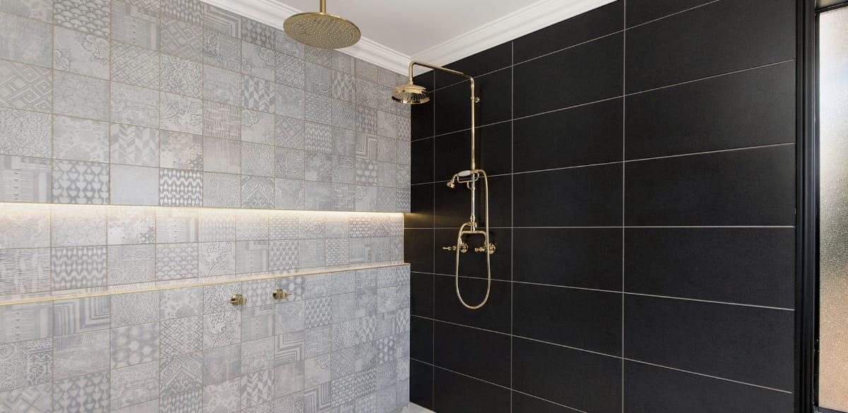 gold heritage shower