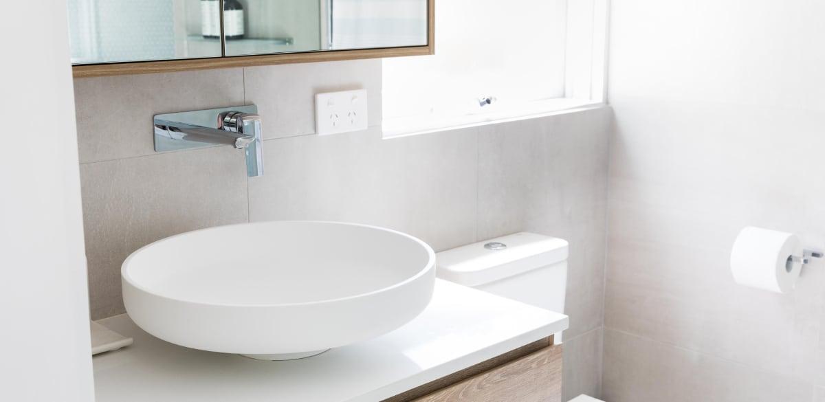 matte white round basin