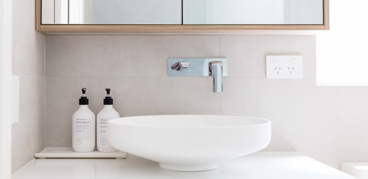 wahroonga ensuite bathroom round basin