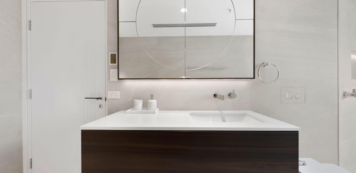 ensuite bathroom timber vanity