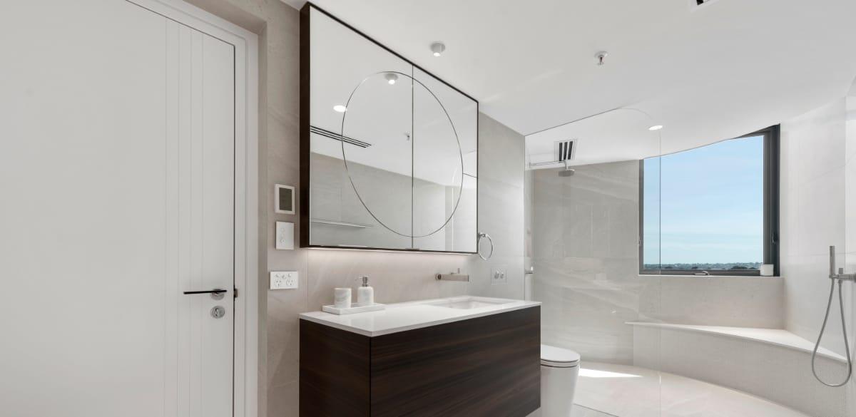 timber vanity bathroom