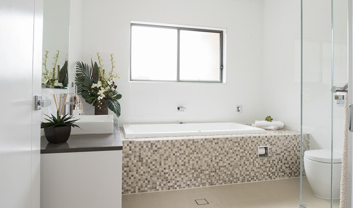 Reece bathrooms Narellan Main Bathroom inset bath