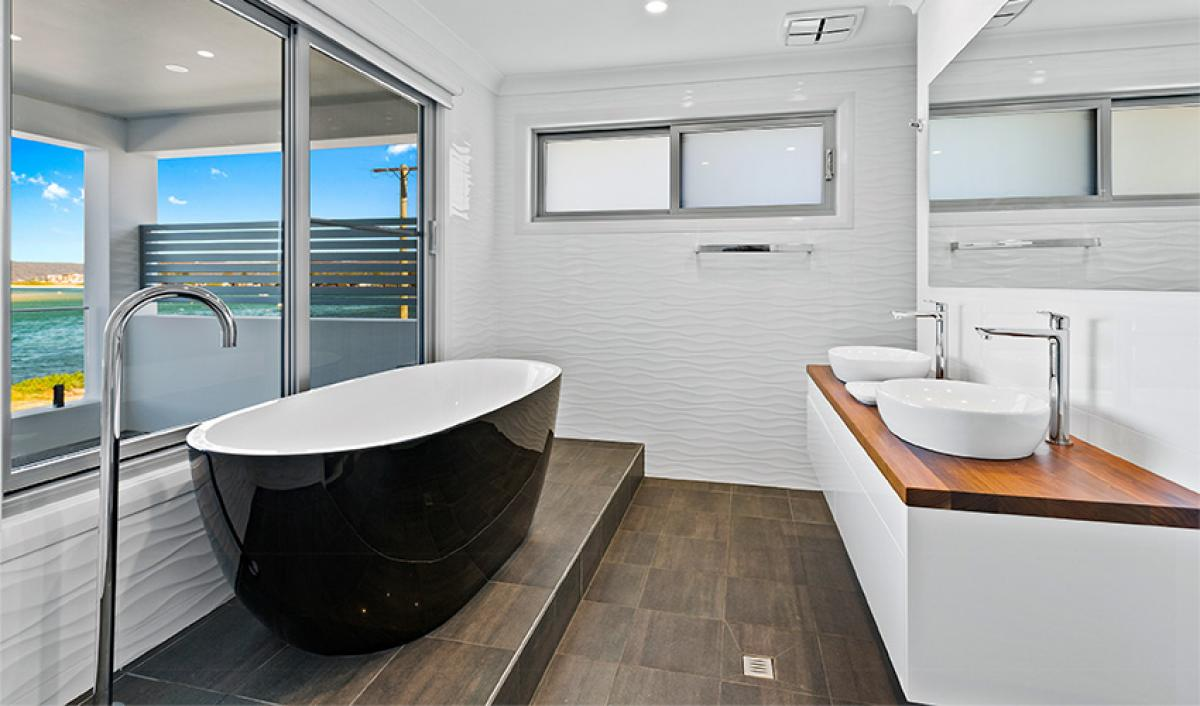 Reece bathroom gallery black freestanding bath