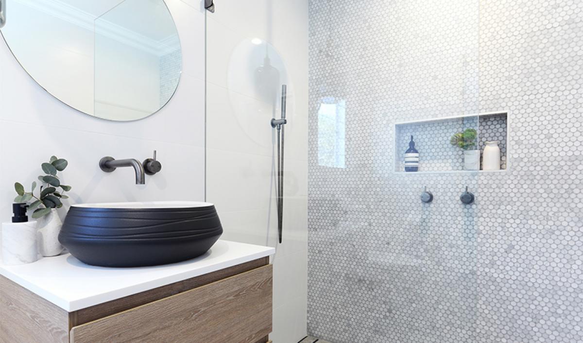 Reece bathrooms gallery gunmetal tapware