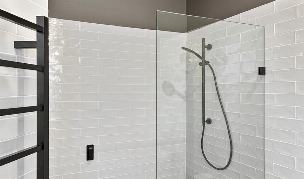Reece bathrooms chrome rail shower