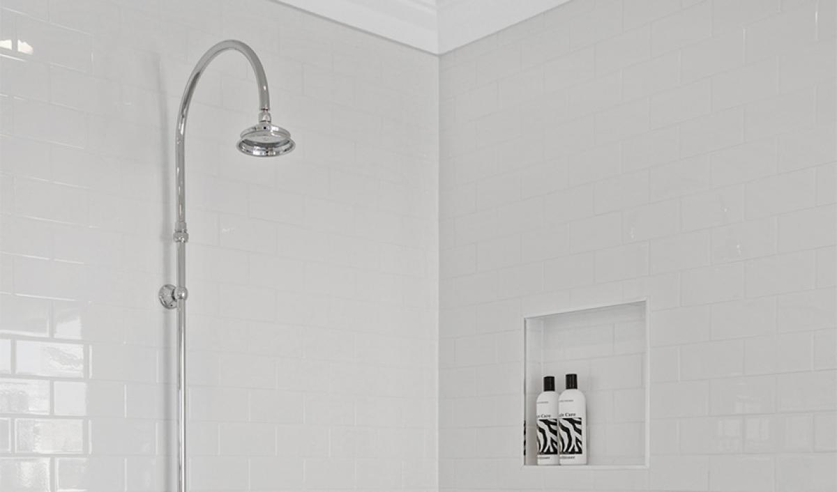 Reece Bathrooms gallery rail shower chrome
