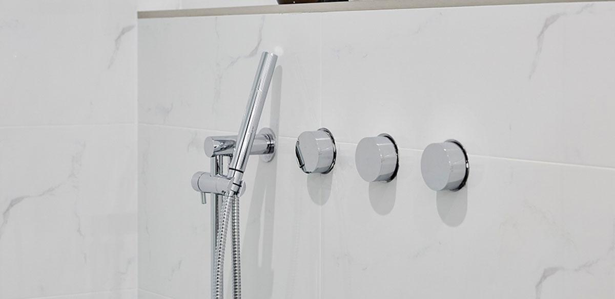 Reece bathroom the block chrome shower