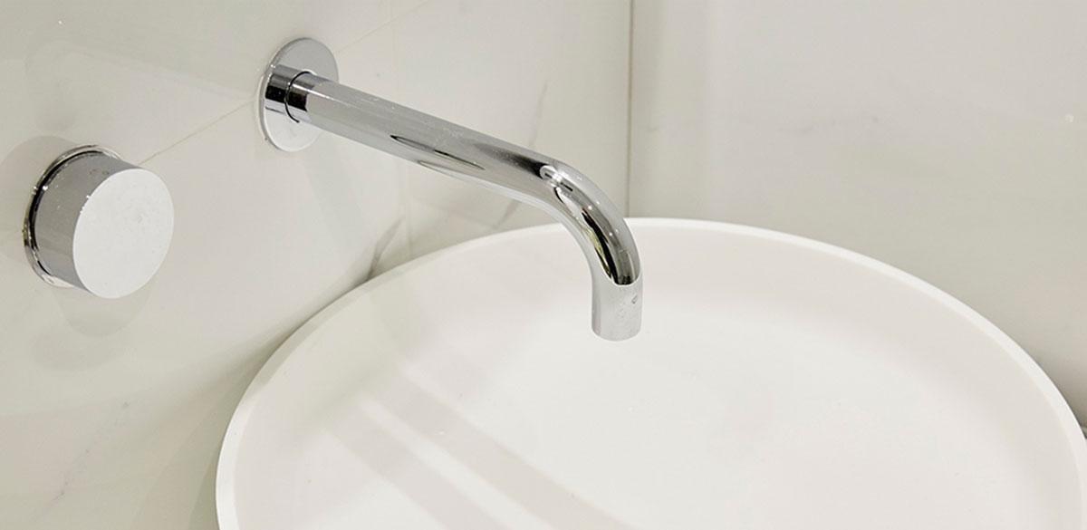 Reece bathroom the block chrome tapware
