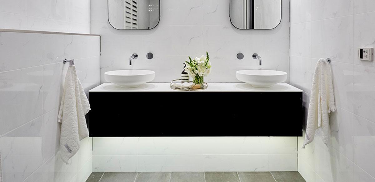 Reece bathroom the block hannah clint omvivo above counter basin