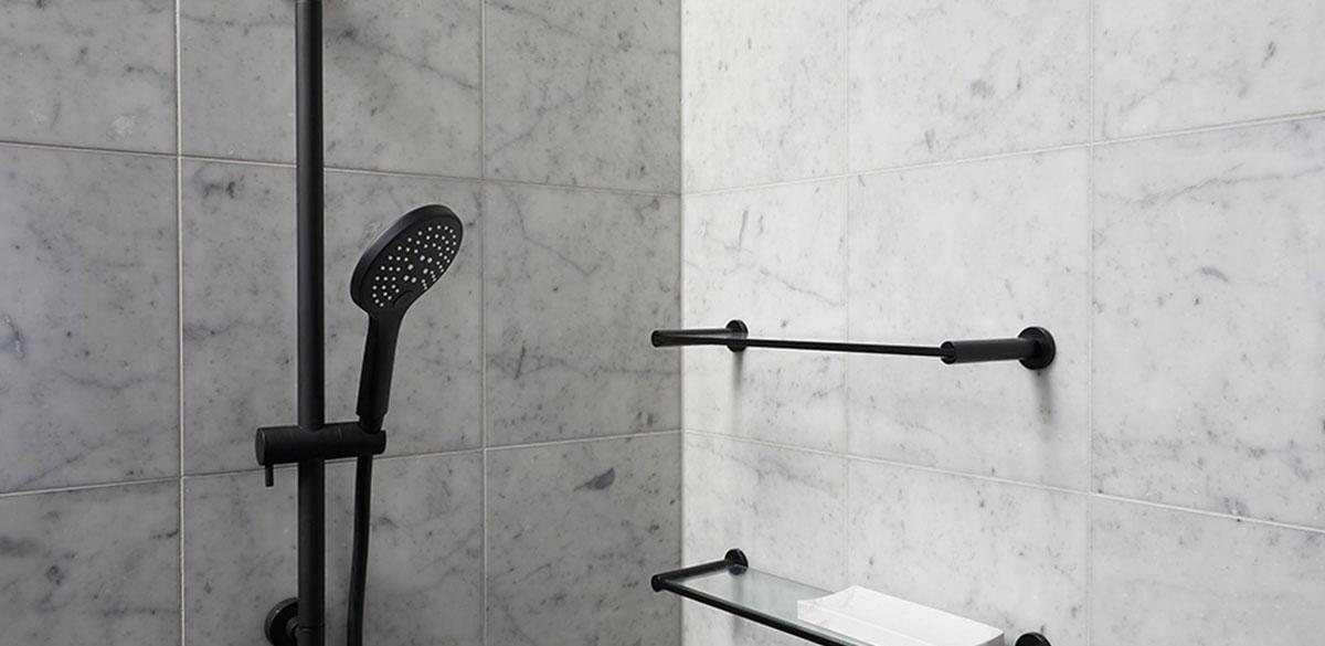 reece bathroom the block mizu drift black shower