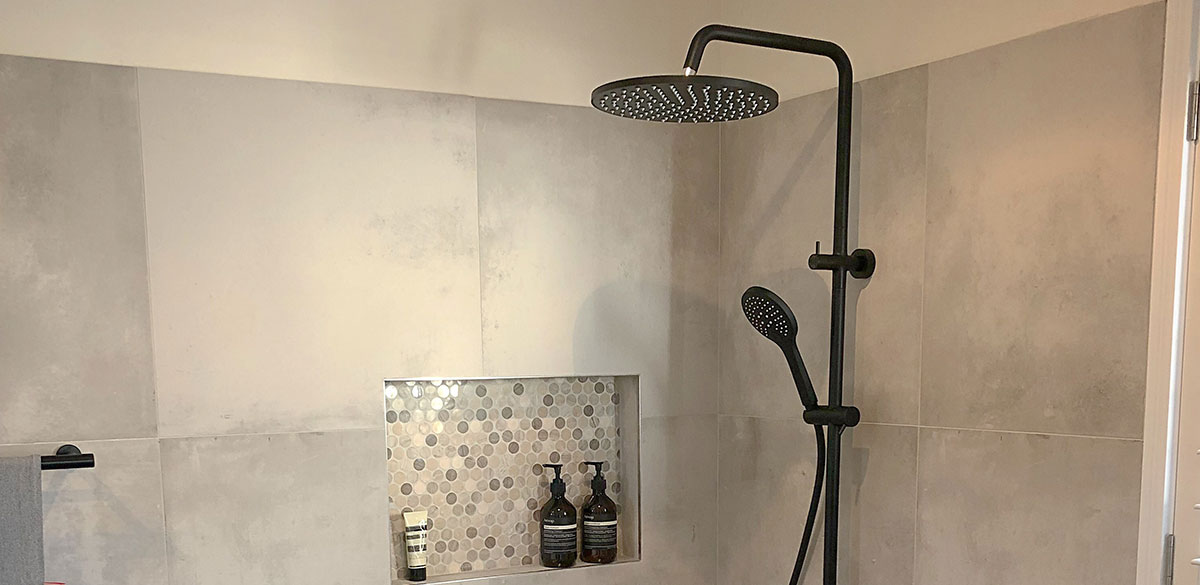 Reece bathroom mizu drift black shower