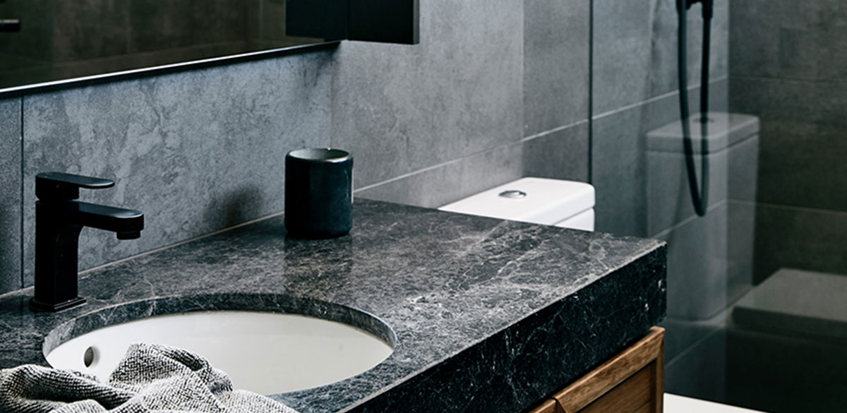 Reece bathroom matte black tapware mizu