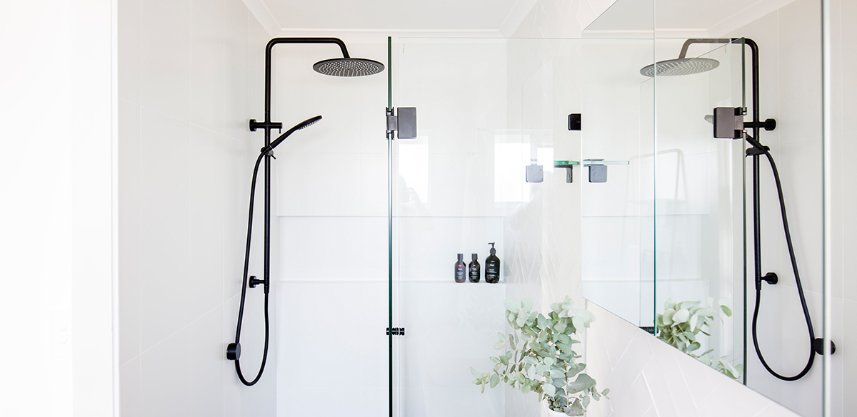Reece bathrooms gallery black shower screen