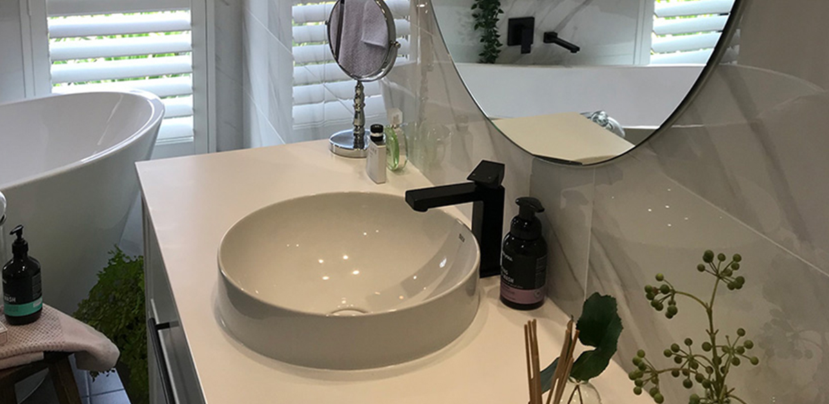 Reece bathrooms mizu block matte black tap
