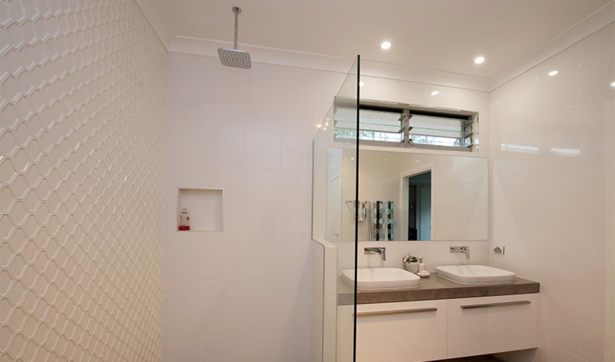 Reece bathroom overhead shower