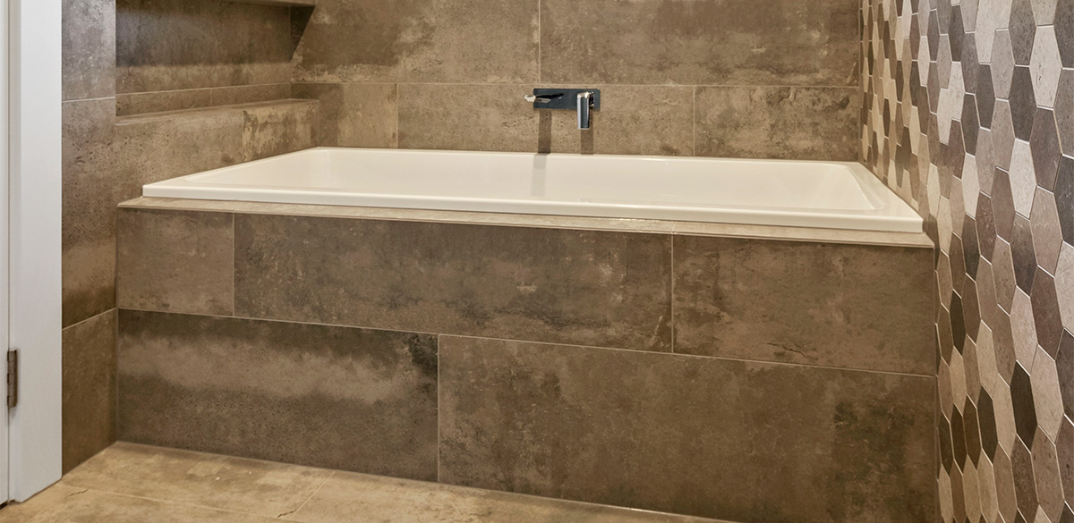 Reece bathroom inset bath