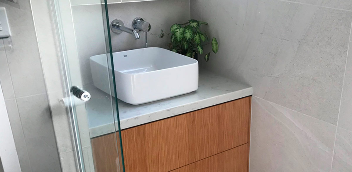 indooroopilly ensuite project gallery basin timber vanity