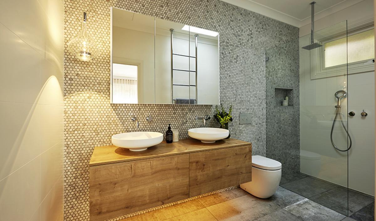Reece bathroom double vanity