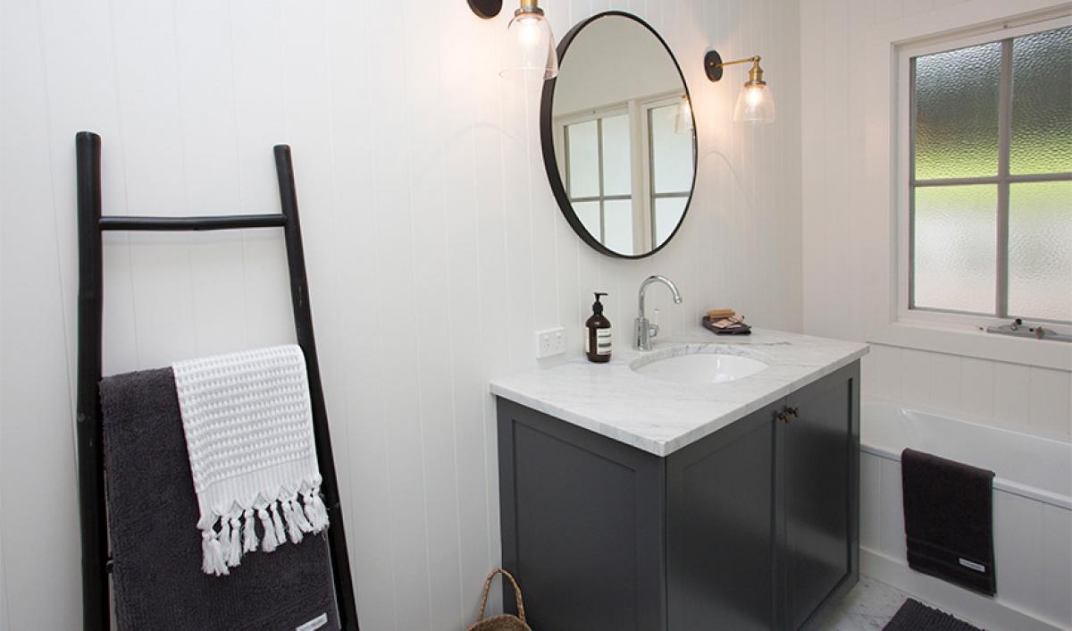 mainbathroom vanity black white