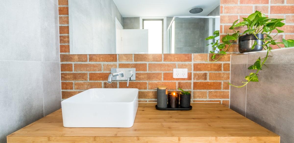 reece above counter basin renovation