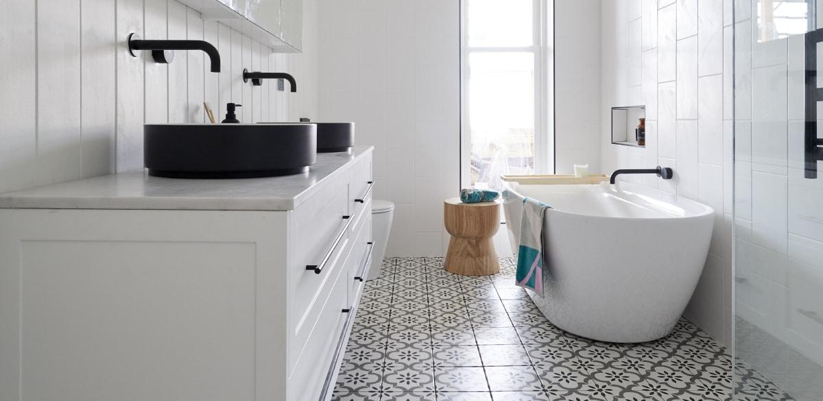 the block bathroom reveals tess luke basin