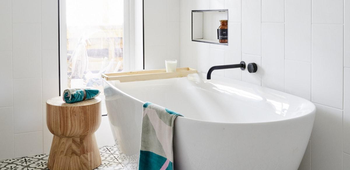 the block bathroom reveals tess luke freestanding bath