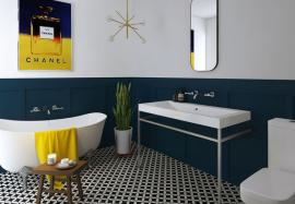 traditional neo classic bathroom