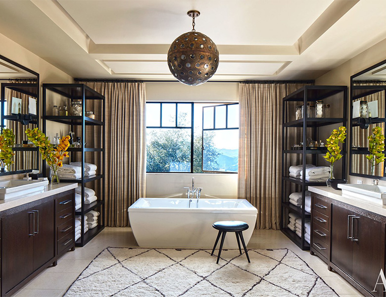 Get the celebrity bathroom look in your home
