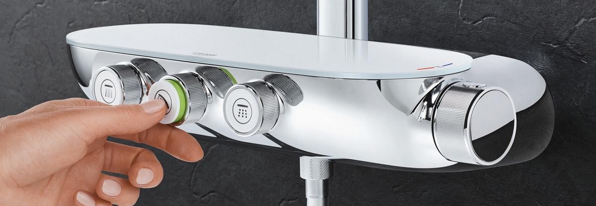 the powder room grohe smartcontrol shower chrome