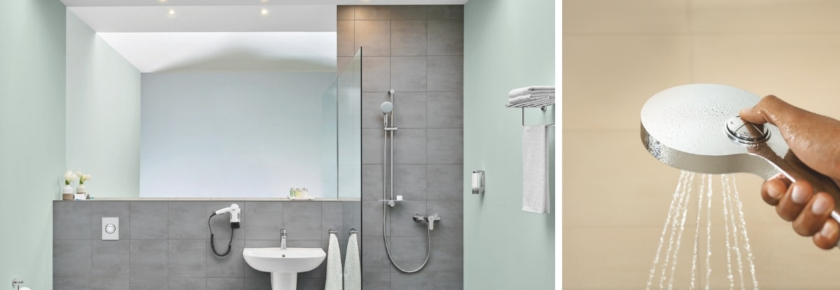 the powder room shower grohe