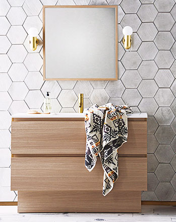 bathroom vanity timber reece tasca
