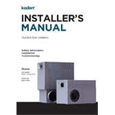 Kaden Installers Manual Ducted Gas Heaters