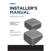 Kaden Installers Manual Evaporative Air Coolers