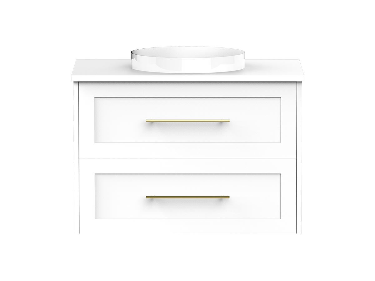 kado lux 750 wall hung 2 drawer vanity