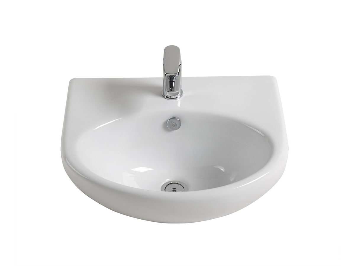 posh solus semi recessed basin reece bathrooms